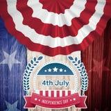 Image composée de graphique de Jour de la Déclaration d'Indépendance Images libres de droits