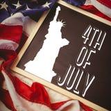 Image composée de graphique de Jour de la Déclaration d'Indépendance Image libre de droits