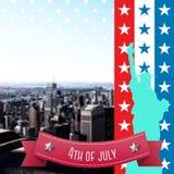Image composée de graphique de Jour de la Déclaration d'Indépendance Photographie stock libre de droits