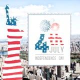 Image composée de graphique de Jour de la Déclaration d'Indépendance illustration libre de droits