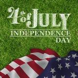 Image composée de graphique de Jour de la Déclaration d'Indépendance Photo libre de droits
