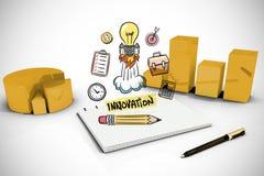 Image composée de griffonnage d'innovation Images stock