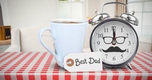 Image composée de jour de pères heureux Photo stock