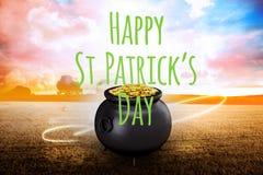 Image composée de jour heureux de patricks de St Images stock