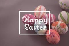 Image composée de Joyeuses Pâques Photos stock
