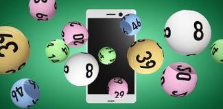 Image composée de l'image 3d des boules colorées de bingo-test Image libre de droits