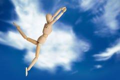 Image composée de l'exercice en bois de la figurine 3d Photos stock