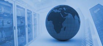 Image composée de l'illustration 3d du globe Photographie stock libre de droits