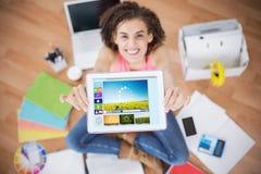 Image composée de l'image composée de diverses icônes de vidéo et d'ordinateur Photos libres de droits