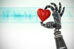 Image composée de l'image 3d du cyborg avec la décoration entendue de forme Image libre de droits
