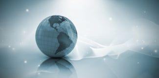 Image composée de l'image 3d du globe Image libre de droits
