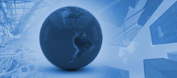 Image composée de l'image 3d du globe Photos libres de droits