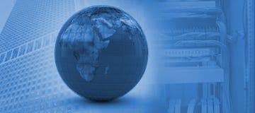 Image composée de l'image 3d du globe bleu Photos stock