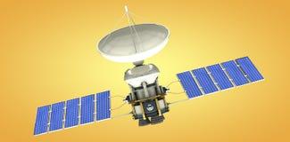 Image composée de l'image 3d du satellite bleu d'énergie solaire Photos stock