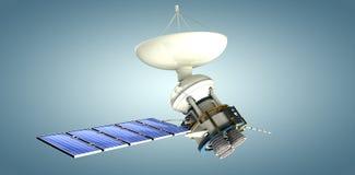 Image composée de l'image 3d du satellite d'énergie solaire illustration stock
