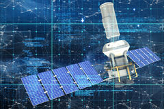 Image composée de l'image 3d du satellite moderne d'énergie solaire Photographie stock libre de droits