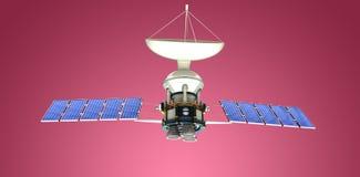 Image composée de l'image 3d du satellite solaire Images stock