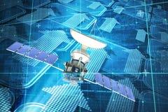 Image composée de l'image 3d du satellite solaire illustration de vecteur