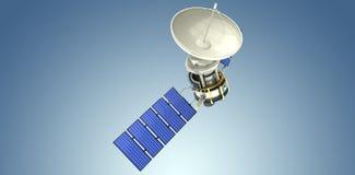 Image composée de l'image 3d du satellite solaire bleu Photographie stock libre de droits