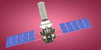 Image composée de l'image 3d du satellite solaire de puissance moderne Photos stock