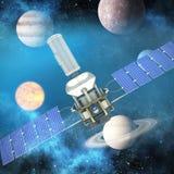 Image composée de l'image 3d du satellite solaire de puissance moderne Image libre de droits