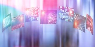 Image composée de l'image numérique de divers écrans de dispositif Photos stock