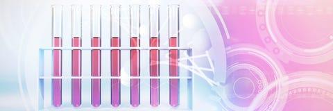 Image composée de l'image de l'interface de molécules illustration stock
