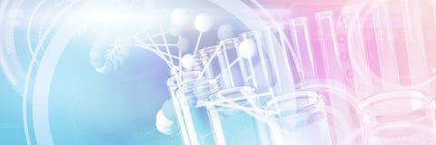 Image composée de l'image de l'interface de molécules illustration de vecteur