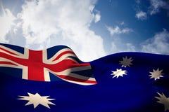 Image composée de l'ondulation de drapeau d'Australie illustration de vecteur