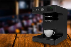 Image composée de la machine 3d de fabricant de café Photo libre de droits