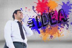 Image composée de la position d'homme d'affaires Image stock