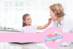 Image composée de la salutation de jour de mères Photo stock