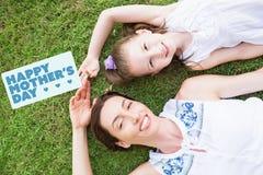 Image composée de la salutation de jour de mères Photographie stock
