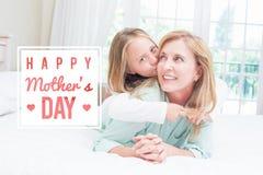 Image composée de la salutation de jour de mères Images libres de droits