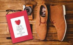 Image composée de la salutation de jour de pères Image libre de droits