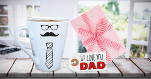 Image composée de la salutation de jour de pères Images stock