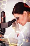 Image composée de la science et de graphique médical Photos stock