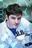 Image composée de la science et de graphique médical Photographie stock