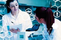 Image composée de la science et de graphique médical Photo libre de droits