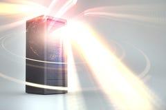 Image composée de la tour 3d de serveur Images libres de droits