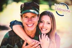 Image composée de logo pour le jour de vétérans en Amérique Photographie stock libre de droits