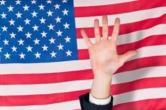 Image composée de main avec des doigts étendus Photos libres de droits