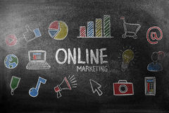 Image composée de marketing en ligne Photographie stock libre de droits
