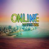 Image composée de marketing en ligne Images stock