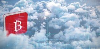 Image composée de matrice et de codes bleus image stock