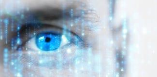 Image composée de matrice noire et bleue digitalement produite photo libre de droits