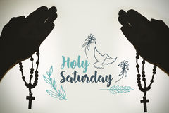 Image composée de message de Pâques illustration de vecteur