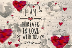 Image composée de message de valentines Photographie stock