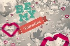 Image composée de message de valentines Images stock