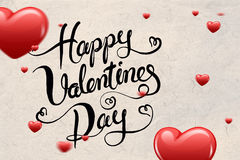 Image composée de message de valentines Image libre de droits